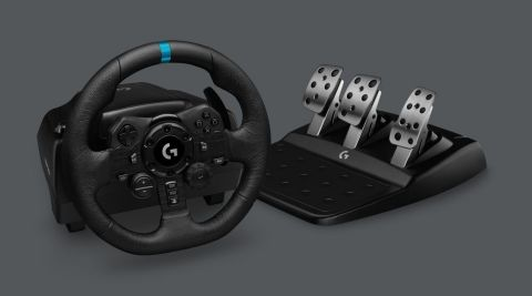 Introducing the Logitech G923 Racing Wheel and Pedals, featuring TRUEFORCE, for PlayStation 4, PlayStation 5 and PC (Photo: Business Wire)