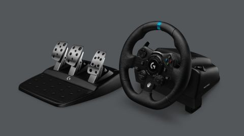 Introducing the Logitech G923 Racing Wheels and Pedals, featuring TRUEFORCE for Microsoft Xbox and PC (Photo: Business Wire)