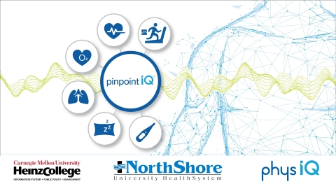 NorthShore, Carnegie Mellon and physIQ collaborate to monitor at-risk patients (Graphic: Business Wire)
