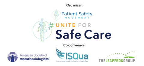 #uniteforsafecare co-convener logos (Graphic: Business Wire)