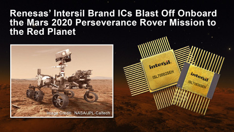 Renesas' radiation-hardened ICs blast off onboard the Mars 2020 Perseverance Rover mission to the red planet (Photo: Business Wire)