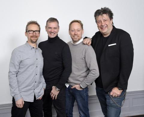 From left to right: Anders Lenhoff, Christer Björkman, Peter Settman, Ola Melzig (Photo credit: Karin Tornblom)