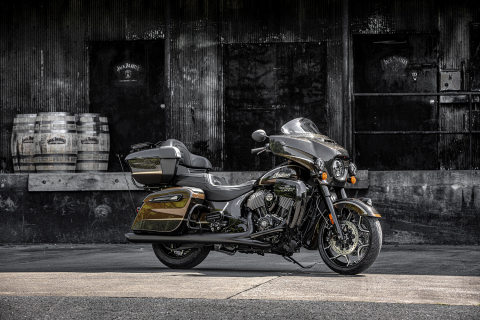America's First Motorcycle Company & America's First Registered Distillery Celebrate Quality, American Craftsmanship with Jack Daniel's® Limited Edition Indian Roadmaster® Dark Horse® (Photo: Business Wire)