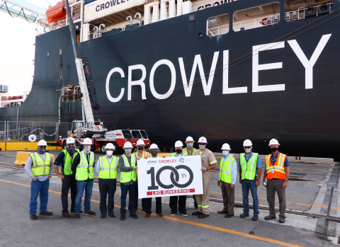 Eagle LNG, Crowley, JAXPORT 100th Bunkering Celebration (Photo: Business Wire)