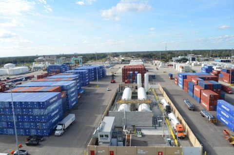 Eagle LNG Talleyrand LNG Bunker Station at JAXPORT (Photo: Business Wire)