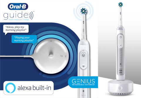 Procter & Gamble announced today that the Oral-B Guide, a smart brushing solution featuring the first voice-integrated toothbrush, is now available (Photo: Business Wire)