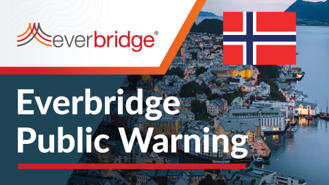 Country of Norway Relies on Everbridge Public Warning to Alert Citizens Traveling Internationally