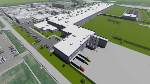 This is a conceptual drawing of Schwan's Company's state-of-the-art pizza plant expansion in Salina, Kansas. The new facility will result in up to 225 new jobs by 2023. (Photo: Business Wire)