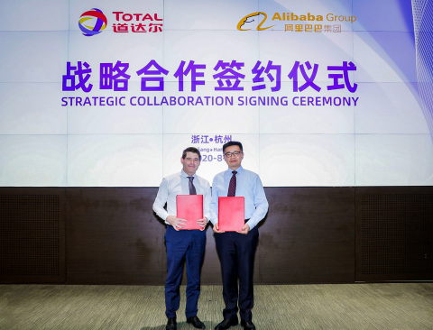 Alibaba Group and Total (China) Investment have signed a Memorandum of Understanding (MoU) in order to pursue a strategic collaboration that will leverage their respective resources to drive the digital transformation of Total's operations in China. (Photo: Business Wire)