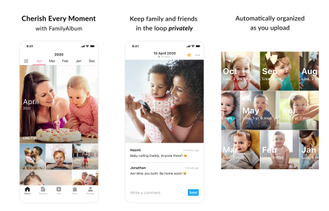 Share, save, and remember the special moments in your child's life with FamilyAlbum. (Graphic: Business Wire)