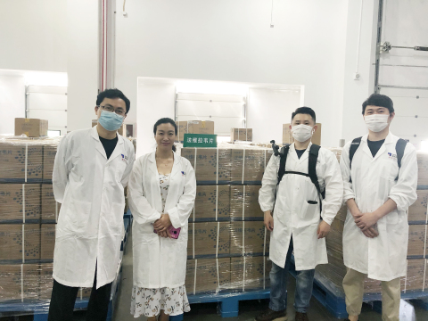 Hisun Staff Working Overnight for Ensuring Adequate Supply of Favipiravir in Support of Foreign Countries in Battling COVID-19 (Photo: Business Wire)