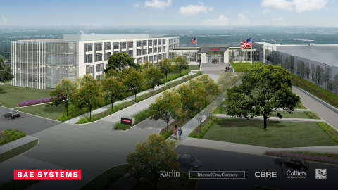 BAE Systems' new site in Parmer Austin Business Park will be able to house more than 1,400 employees and will include engineering, manufacturing, laboratory, and office space to primarily support U.S. Department of Defense customers. (Photo: BAE Systems)