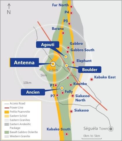 Figure 1:  Séguéla Location Plan (Graphic: Business Wire)