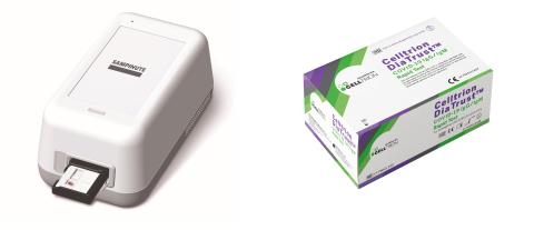 SAMPINUTE™ COVID-19 Antigen MIA (left) and DiaTrust™ COVID-19 IgG/IgM Rapid Test (Photo: Business Wire)