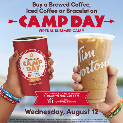 Buy a coffee, help change a life. Today is Tim Hortons® annual Camp Day, supporting virtual Tim Hortons Foundation Camps (Photo: Business Wire)