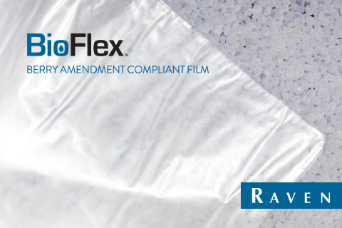 Raven BioFlex™ films are Berry Amendment compliant (USC, Title 10, Section 2533a) and contain premium-quality, high-strength polymer resins formulated to be used in the manufacturing of single-use, disposable medical isolation gowns. (Photo: Business Wire)