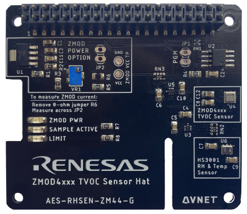 Renesas Avnet ZMOD4410 HAT (Photo: Business Wire)