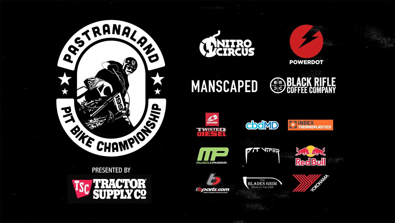 """The Pit Bike World Championship is the brainchild of Travis Pastrana himself, and features a challenging course situated at his legendary """"Pastranaland"""" home compound. (Video: Nitro Circus)"""