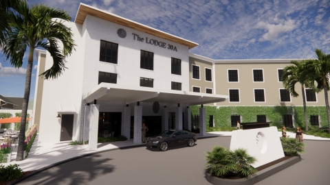 Artist Rendering of the planned The Lodge 30A (Photo: Business Wire)