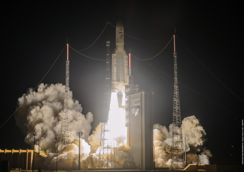 Galaxy 30 and MEV-2 launching on the Ariane 5 rocket. (Photo: Business Wire)