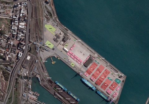 In the first port image BlackSky captured, three images were collected in rapid succession over Port Elizabeth, South Africa, on August 10, 2020, at 11:31 a.m. local time. By analyzing these images, BlackSky is able to extract critical economic and financial indicators to offer a near-real-time view of commercial activity in Port Elizabeth. In particular, with the assistance of Spectra AI, BlackSky can count the number of container stacks in the container yard, identify the container and bulk carrier ships currently berthed, count the number of vehicles awaiting export in the car terminal, track ground vehicle movements, and even determine which cargo holds are actively being loaded. With the ever-increasing revisit rates offered by the BlackSky Global constellation and the advanced automation capabilities enabled by Spectra AI, economic activity is revealed at a velocity previously thought impossible. (Photo: Business Wire)