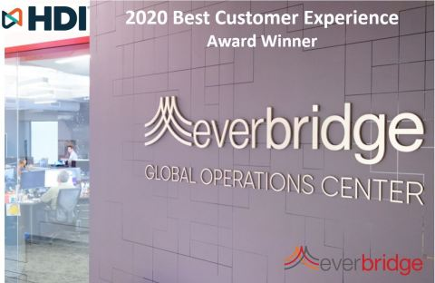 Everbridge Wins 2020 Best Customer Experience Award From The Help Desk Institute (HDI) (Photo: Business Wire)