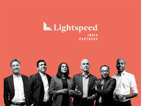 Lightspeed India Partners (pictured left to right): Bejul Somaia, Akshay Bhushan, Harsha Kumar, Dev Khare, Vaibhav Agrawal, and Hemant Mohapatra. (Graphic: Business Wire)