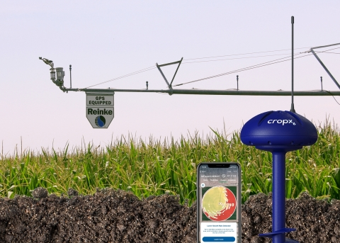 Reinke Manufacturing and CropX partnership will empower growers in more than 40 countries with the world's finest irrigation scheduling tools. (Photo: Reinke Manufacturing/CropX)