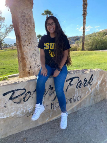 Photo 3, Lillian Barranco-Ramirez will attend Cal State Long Beach this fall. (Photo: Business Wire)