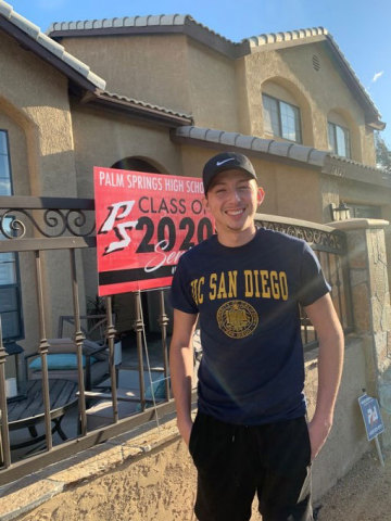 Photo 1, Ryan Romero will attend the University of California, San Diego this fall. (Photo: Business Wire)
