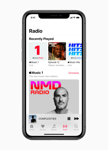 Apple Music premieres new Apple Music radio. (Photo: Business Wire)