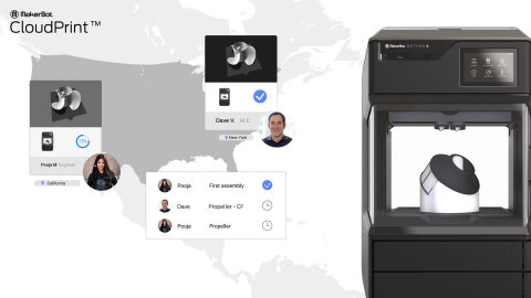 MakerBot CloudPrint delivers a seamless 3D printing experience for teams remote or onsite (Photo: Business Wire)