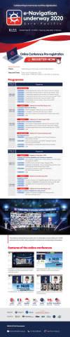 """Programa da Conferência ENUW Asia-Pacific 2020. O Ministério de Assuntos Marítimos e Pesca (Ministry of Oceans and Fisheries, MOF) da República da Coreia sediará a conferência virtual e-Navigation Underway (ENUW) de 8 a 9 de setembro sob o tema """"Colaboração para a harmonização da digitalização marítima"""". A conferência será realizada em uma plataforma virtual, e está sendo coorganizada pela Administração Marítima Dinamarquesa e pela Associação Internacional de Autoridades de Auxílios à Navegação Marítima e Faróis. Essa conferência tem como foco o início da """"Digital@Sea Initiative"""" como estrutura de cooperação global na digitalização marítima. Baseada na iniciativa de navegação eletrônica da Organização Marítima Internacional (OMI), essa conferência explorará futuros serviços digitais marítimos e redes de comunicação, os desafios da digitalização marítima e a cooperação internacional. (Imagem: Business Wire)"""