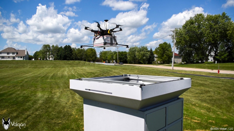 Valqari Introduces the Commercial Drone Delivery Station (Photo: Business Wire)