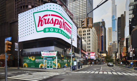 4,500-square-foot location will deliver the most awesome, immersive doughnut experience, including the world's largest Hot Light, largest glaze waterfall, digital experiences and doughnuts 24x7 (Photo: Business Wire)
