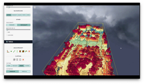 The Kaarta Cloud® platform allows users to process Velodyne's 3D lidar data into a registered point cloud map. It provides a continuous framework to the data which then can be optimized with functions including filtering, loop closure, conversion and more. (Photo: Kaarta)