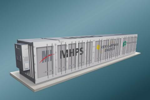 A Key Capture Energy selecionou a MHPS e a Powin para construir três projetos de sistema de armazenamento de energia de bateria (BESS), totalizando 200 MW no Texas. Mostrado: Renderização do BESS. (Gráfico: Business Wire)