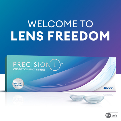 PRECISION1 is designed for people who want to embrace the freedom of life with daily contact lenses. (Photo: Alcon)