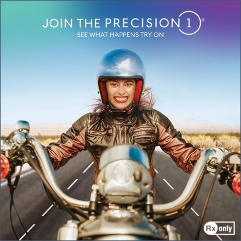 """The PRECISION1 """"See What Happens Try On"""" allows people to grace their eyes with five amazing days of life in contact lenses. (Photo: Alcon)"""