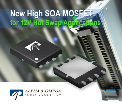 New High SOA MOSFET for 12V Hot Swap Applications (Graphic: Business Wire)