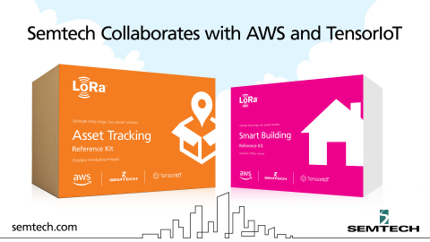 Semtech, AWS and TensorIoT Announce New Asset Tracking and Smart Building Kits (Graphic: Business Wire)