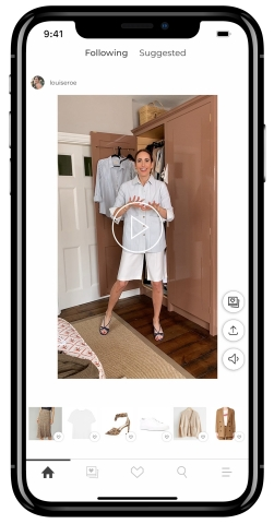 Louise Roe showcasing LTK Shopping Video (Photo: Business Wire)