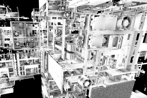 307M triangles Servers scene, ambient occlusion computed in 4.1ms @ 1080p on NVIDIA Quadro RTX8000 (Graphic: Business Wire)