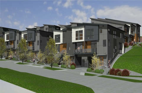 Village Gardens, a community land trust affordable homeownership development, begins construction in the Central District of Seattle. (Photo: Business Wire)