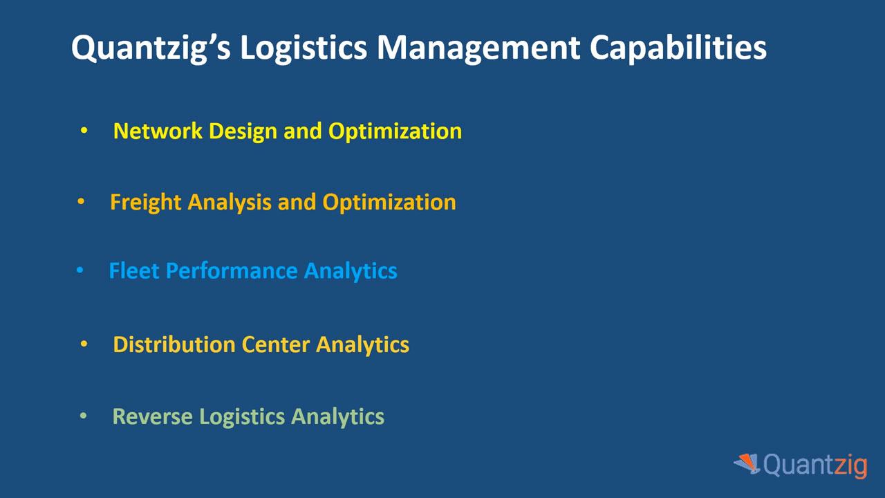 Quantzig's Logistics Management Capabilities