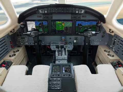 Garmin G5000 integrated flight deck in the Citation XLS. (Photo: Business Wire)