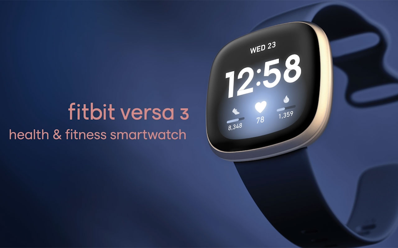 Fitbit Versa 3, a new health and fitness smartwatch with even more advanced fitness, health and convenience features all with 6+ days battery life.