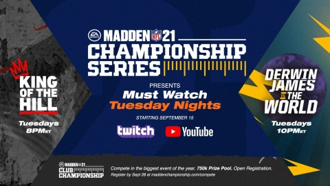 Tune in September 15 for Premiere of New Madden NFL 21 Championship Series Programs (Photo: Business Wire).