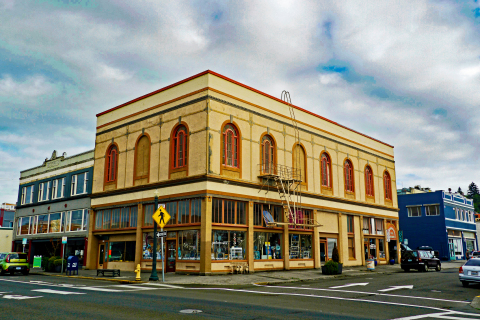 Odd Fellows Building, Astoria, OR. Today, the building houses all women owned businesses and is a flourishing center for local dance, performing arts and physical education classes that enhance, inspire and involve the local community. (Photo: Business Wire)