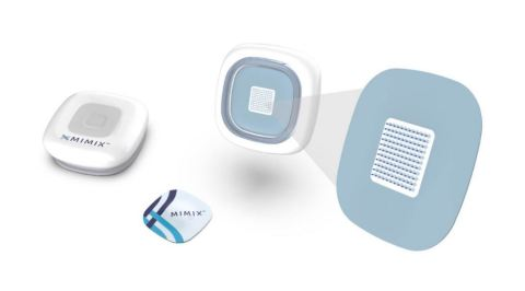 The MIMIX patch delivers medicines and vaccines through silk microneedles that dissolve at a precise rate in the skin, releasing their treatment at its most effective dose for the most effective length of time. (Photo: Business Wire)
